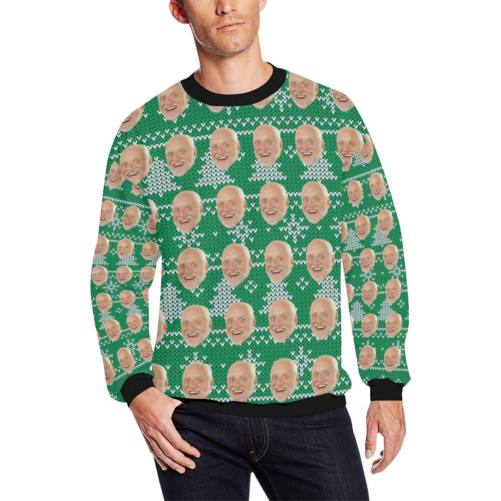 Ugly Christmas Sweater Men.Ugly Christmas Sweater Custom Sweatshirt Men Women Kids