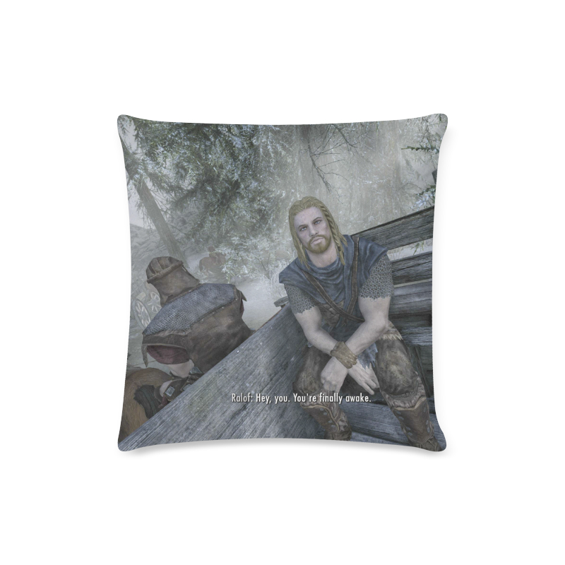 Skyrim Pillow Case Hey You You Re Finally Awake Onyx Prints
