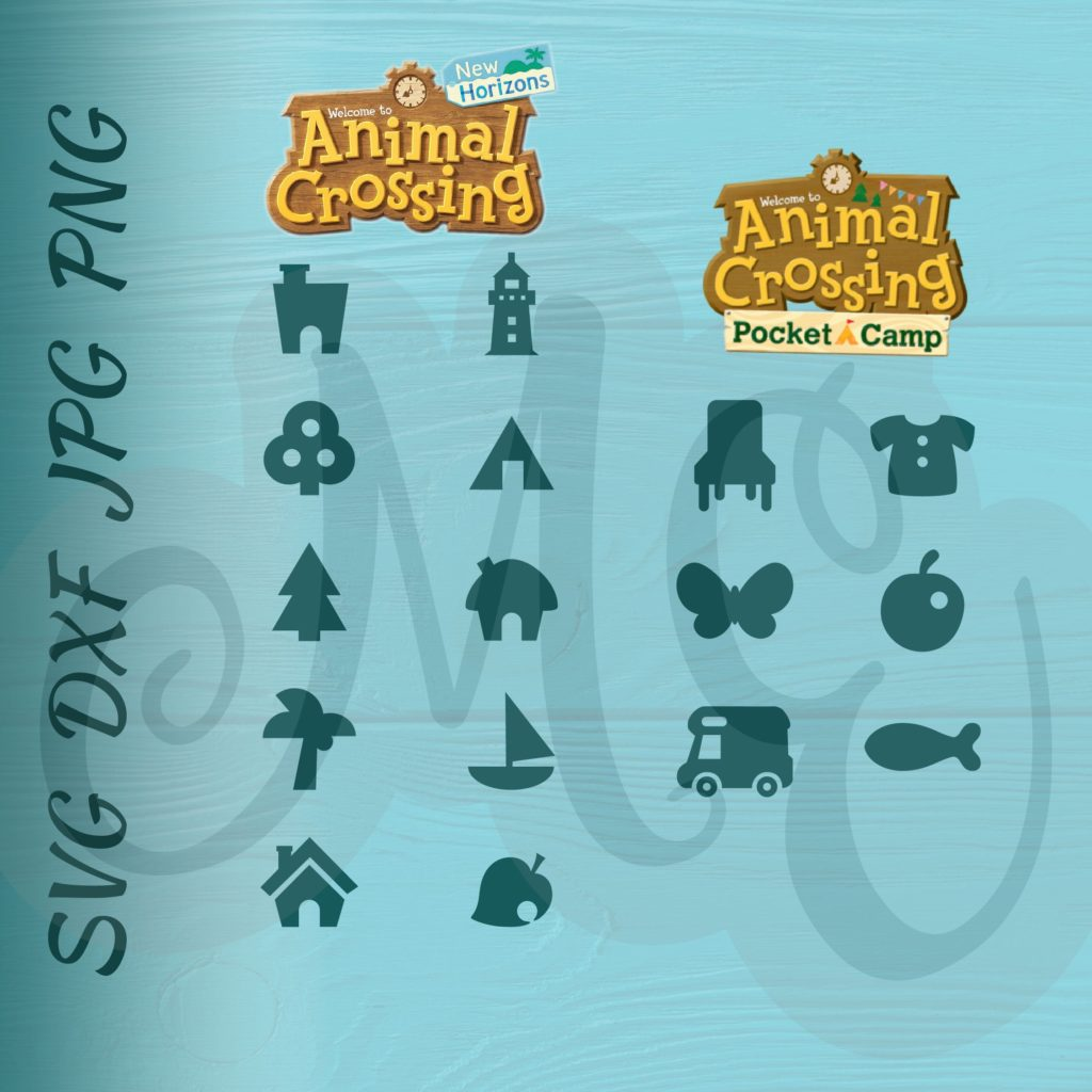 Animal Crossing New Horizons and Pocket Camp Icons SVG ...