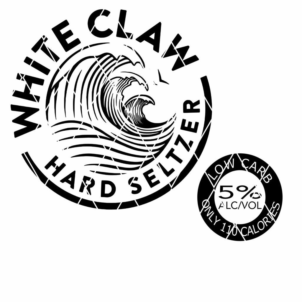 White Claw Hard SVG, logo png DXF • Onyx Prints